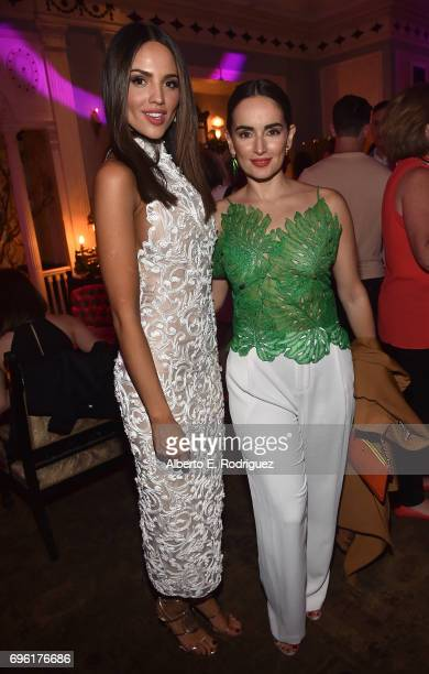 Actors Eiza Gonzalez and Ana De La Reguera attend the after party for the premiere of Sony Pictures' 'Baby Driver' on June 14 2017 in Los Angeles...