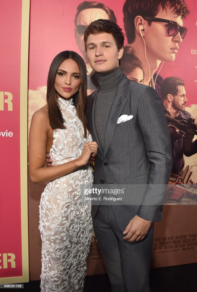 Actors Eiza Gonzalez and Ansel Elgort attend the premiere of Sony Pictures' 'Baby Driver' at Ace Hotel on June 14, 2017 in Los Angeles, California.