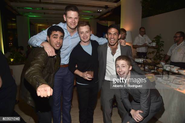 Actors EJ Bonilla Jon Beavers Noel Fisher Darius Homayoun and Joey Luthman attend the 2017 Summer TCA Tour National Geographic Party at The Waldorf...