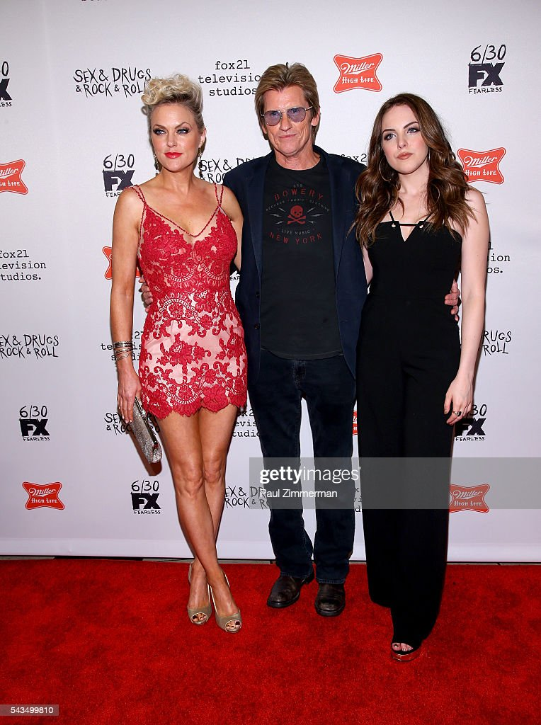 Actors <a gi-track='captionPersonalityLinkClicked' href=/galleries/search?phrase=Elaine+Hendrix&family=editorial&specificpeople=584608 ng-click='$event.stopPropagation()'>Elaine Hendrix</a>, <a gi-track='captionPersonalityLinkClicked' href=/galleries/search?phrase=Denis+Leary&family=editorial&specificpeople=204773 ng-click='$event.stopPropagation()'>Denis Leary</a> and <a gi-track='captionPersonalityLinkClicked' href=/galleries/search?phrase=Elizabeth+Gillies&family=editorial&specificpeople=6839338 ng-click='$event.stopPropagation()'>Elizabeth Gillies</a> attend 'Sex&Drugs&Rock&Roll' Season 2 Premiere at AMC Loews 34th Street 14 theater on June 28, 2016 in New York City.
