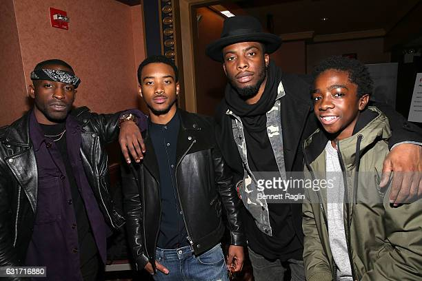 Actors Elijah Kelley Algee Smith Woody McClain and Caleb McLaughlin attend the New Edition Story BET AMC Screenings Tour New York on January 14 2017...