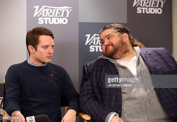 Actors Elijah Wood and Jorge Garcia speak at The Variety Studio Sundance Edition Presented By Dawn Levy on January 18 2014 in Park City Utah