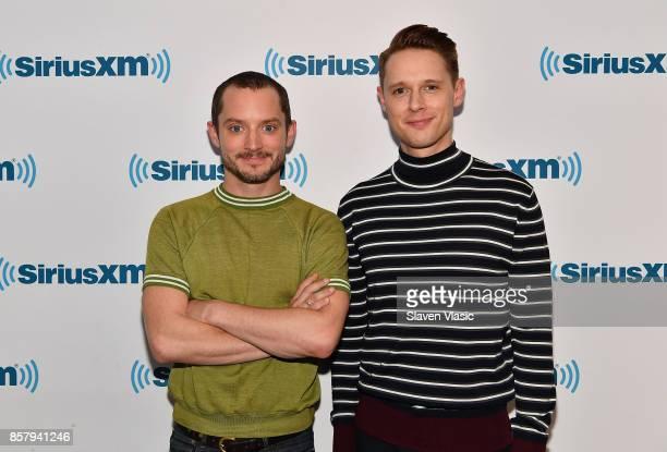 Actors Elijah Wood and Samuel Barnett visit SiriusXM Studios on October 5 2017 in New York City