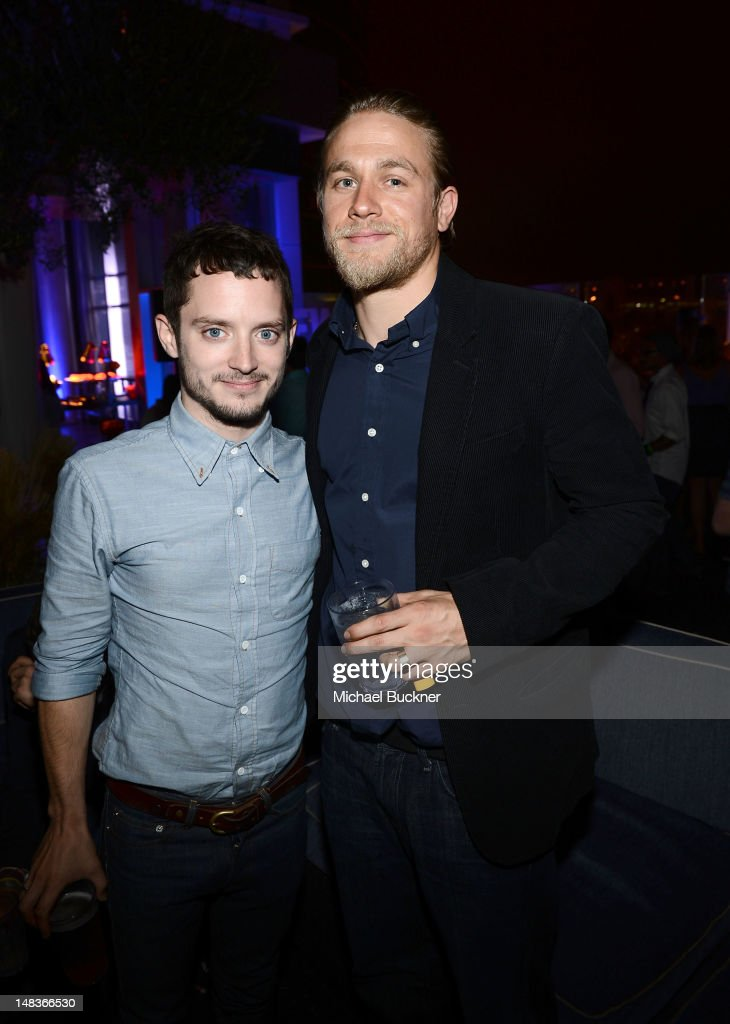 Actors <a gi-track='captionPersonalityLinkClicked' href=/galleries/search?phrase=Elijah+Wood&family=editorial&specificpeople=171364 ng-click='$event.stopPropagation()'>Elijah Wood</a> (L) <a gi-track='captionPersonalityLinkClicked' href=/galleries/search?phrase=Charlie+Hunnam&family=editorial&specificpeople=223913 ng-click='$event.stopPropagation()'>Charlie Hunnam</a> attend Entertainment Weekly's 6th Annual Comic-Con Celebration sponsored by Just Dance 4 held at the Hard Rock Hotel San Diego on July 14, 2012 in San Diego, California.