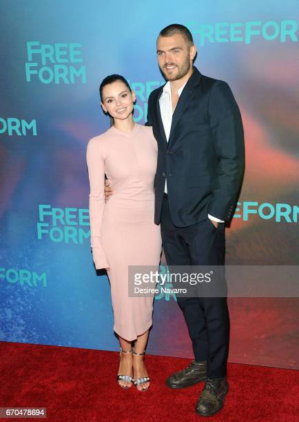 Actors Eline Powell and Alex Roe attend Freeform 2017 Upfront at Hudson Mercantile on April 19 2017 in New York City