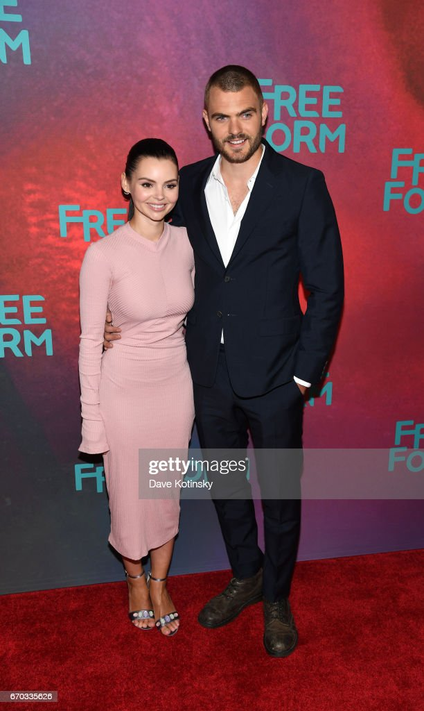 Actors Eline Powell and Alex Roe of 'Siren' attend Freeform 2017 Upfront at Hudson Mercantile on April 19, 2017 in New York City.