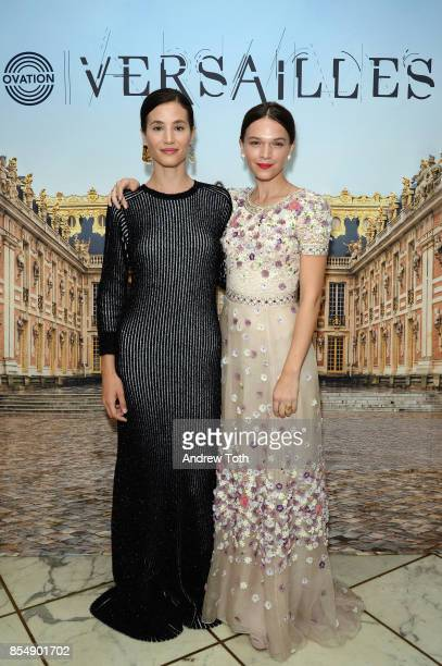 Actors Elisa Lasowski and Anna Brewster attend as Ovation TV celebrates the US launch of Versailles Season Two at The French Embassy on September 27...