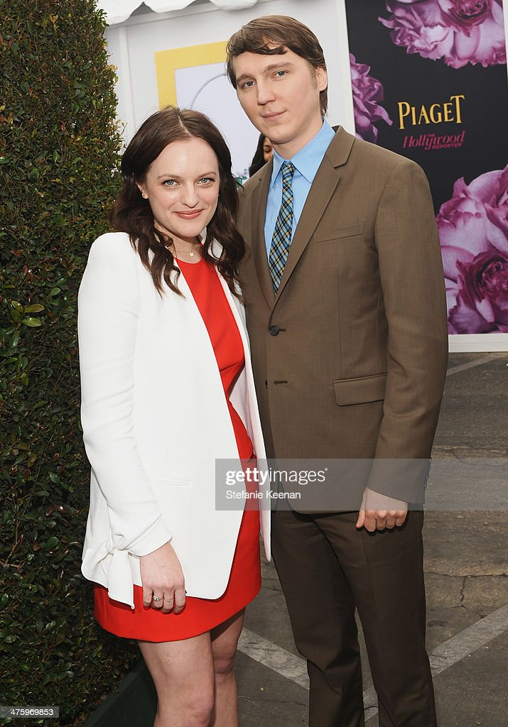 Actors <a gi-track='captionPersonalityLinkClicked' href=/galleries/search?phrase=Elisabeth+Moss&family=editorial&specificpeople=3079265 ng-click='$event.stopPropagation()'>Elisabeth Moss</a> (L) and <a gi-track='captionPersonalityLinkClicked' href=/galleries/search?phrase=Paul+Dano&family=editorial&specificpeople=550442 ng-click='$event.stopPropagation()'>Paul Dano</a> pose in the Piaget Lounge during the 2014 Film Independent Spirit Awards at Santa Monica Beach on March 1, 2014 in Santa Monica, California.