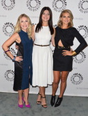 Actors Elisha Cuthbert Casey Wilson and Eliza Coupe arrive to The Paley Center For Media's An Evening With 'Happy Endings' and 'Don't Trust the B In...