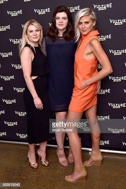 Actors Elisha Cuthbert Casey Wilson and Eliza Coupe attend the 2016 Vulture Festival at Milk Studios on May 22 2016 in New York City