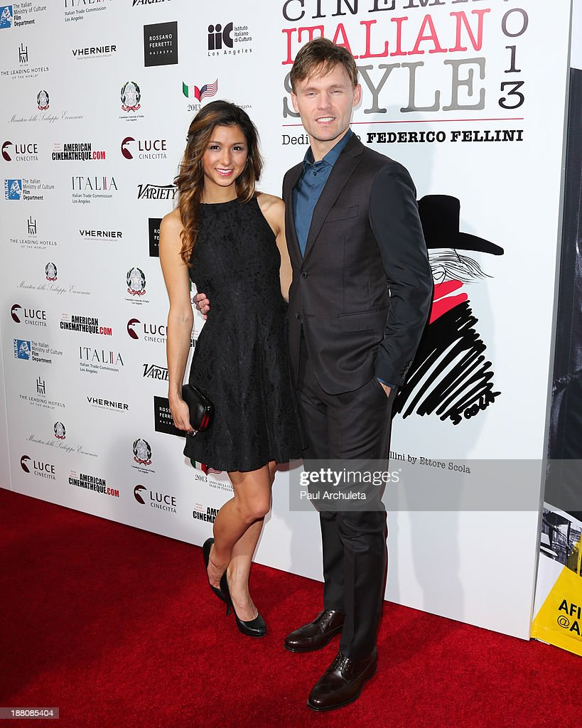 Actors Elissa Shay (L) and Scott Haze (R) attend the premiere of 'The Great Beauty' at the Cinema Italian Style 2013 Opening Night at the Egyptian Theatre on November 14, 2013 in Hollywood, California.