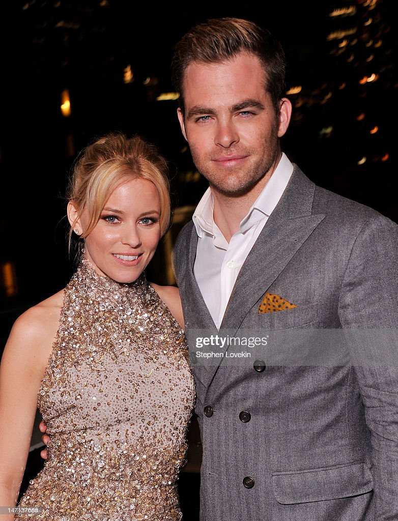 Actors <a gi-track='captionPersonalityLinkClicked' href=/galleries/search?phrase=Elizabeth+Banks&family=editorial&specificpeople=202475 ng-click='$event.stopPropagation()'>Elizabeth Banks</a> and <a gi-track='captionPersonalityLinkClicked' href=/galleries/search?phrase=Chris+Pine&family=editorial&specificpeople=641995 ng-click='$event.stopPropagation()'>Chris Pine</a> attend the after party for the Cinema Society with Linda Wells & Allure screening of DreamWorks Studios' 'People Like Us' at Hotel Americano on June 25, 2012 in New York City.