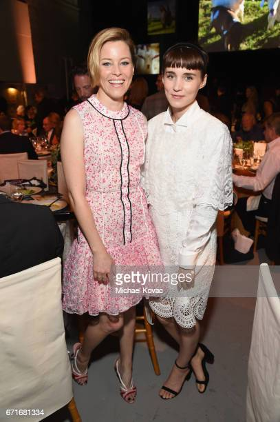 Actors Elizabeth Banks and Rooney Mara at The Humane Society of the United States' To the Rescue Los Angeles Gala at Paramount Studios on April 22...