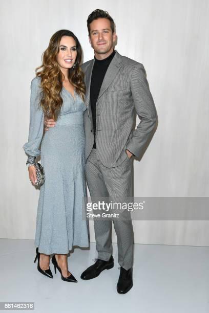 Actors Elizabeth Chambers amd Armie Hammer at Bottega Veneta Hosts Hammer Museum Gala In The Garden on October 14 2017 in Westwood California