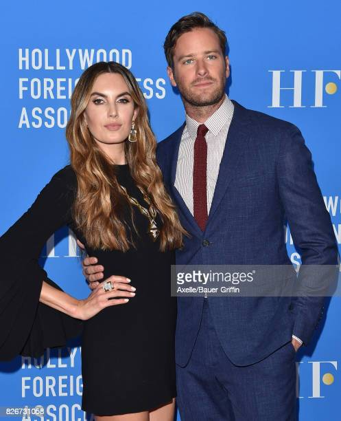 Actors Elizabeth Chambers and Armie Hammer arrive at the Hollywood Foreign Press Association's Grants Banquet at the Beverly Wilshire Four Seasons...