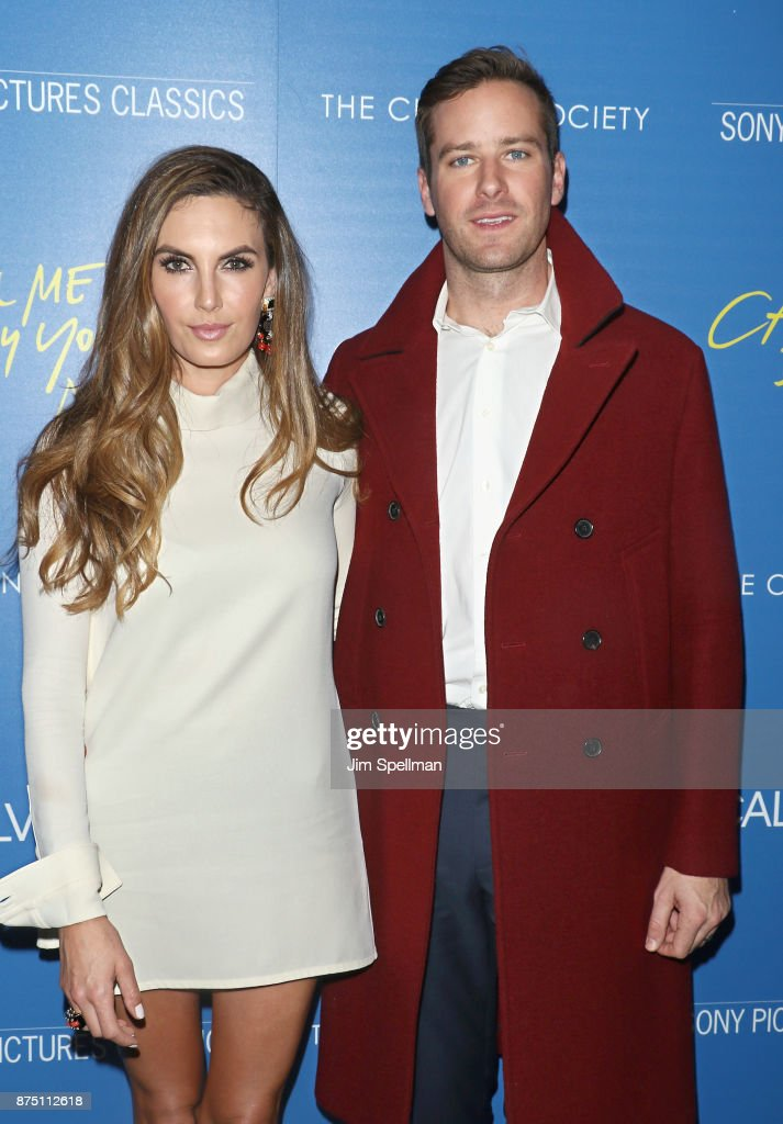 Actors Elizabeth Chambers and Armie Hammer attend the screening of Sony Pictures Classics' 'Call Me By Your Name' hosted by Calvin Klein and The Cinema Society at Museum of Modern Art on November 16, 2017 in New York City.