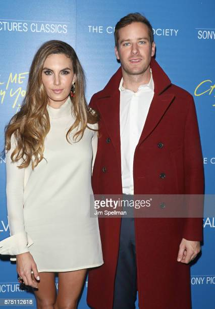 Actors Elizabeth Chambers and Armie Hammer attend the screening of Sony Pictures Classics' 'Call Me By Your Name' hosted by Calvin Klein and The...