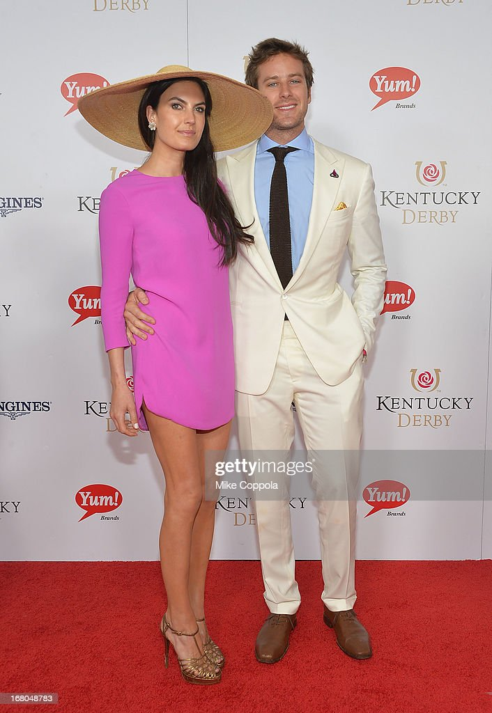 Actors Elizabeth Chambers and Armie Hammer celebrate the 139th Kentucky Derby with Moet & Chandon at Churchill Downs on May 4, 2013 in Louisville, Kentucky.