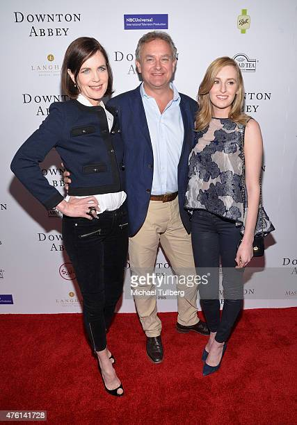 Actors Elizabeth McGovern Hugh Bonneville and Laura Carmichael attend 'An Afternoon With Downton Abbey' Talent Panel QA session at Writers Guild...