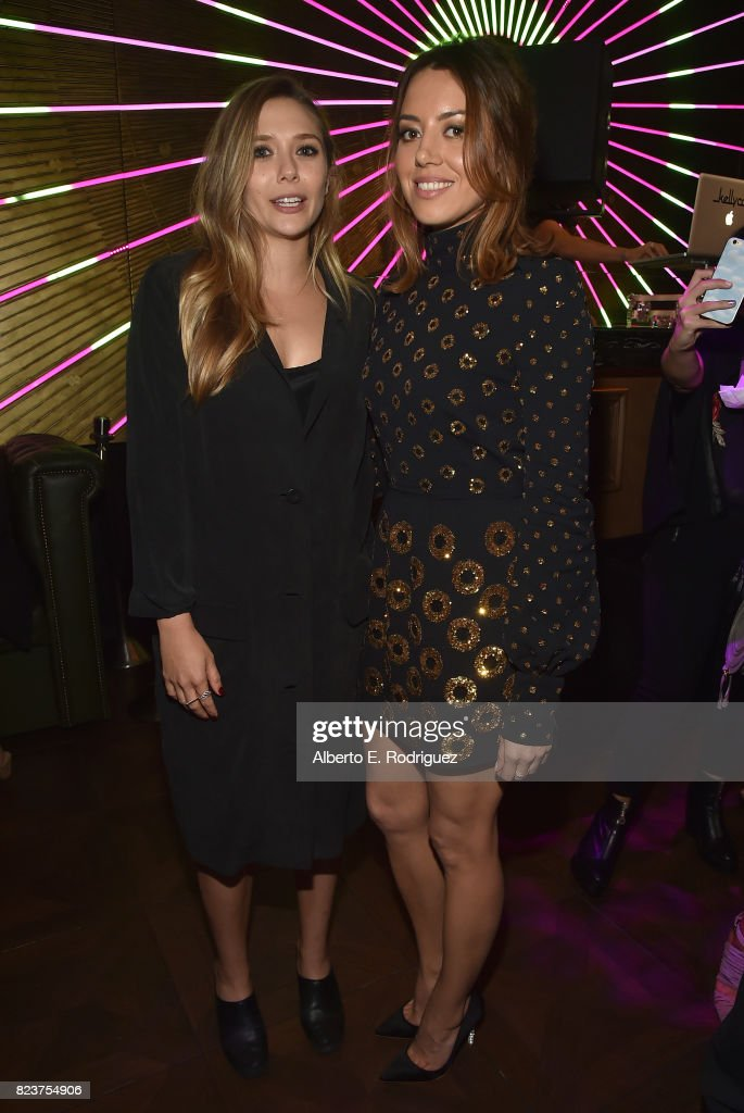 Actors Elizabeth Olsen and Aubrey Plaza attend the after party for the premiere of Neon's 'Ingrid Goes West' on July 27, 2017 in Hollywood, California.