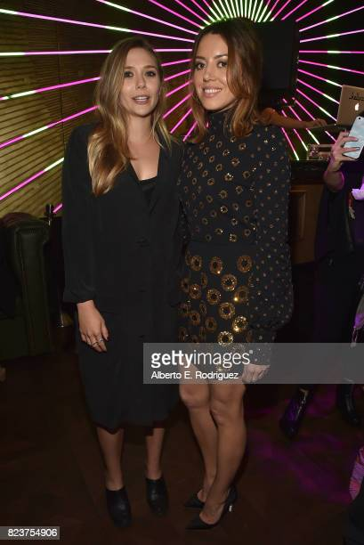Actors Elizabeth Olsen and Aubrey Plaza attend the after party for the premiere of Neon's 'Ingrid Goes West' on July 27 2017 in Hollywood California