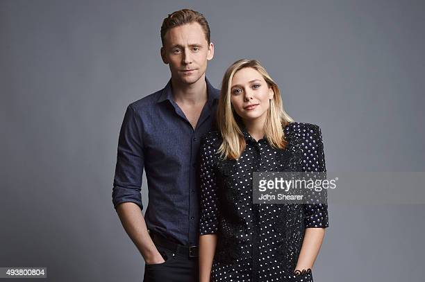 Actors Elizabeth Olsen and Tom Hiddleston pose for a portrait at the 'I Saw The Light' press day on October 17 2015 in Nashville Tennessee