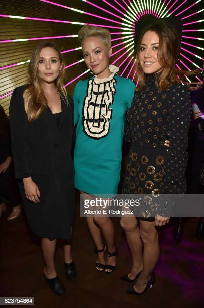 Actors Elizabeth Olsen Pom Klementieff and Aubrey Plaza attend the after party for the premiere of Neon's 'Ingrid Goes West' on July 27 2017 in...