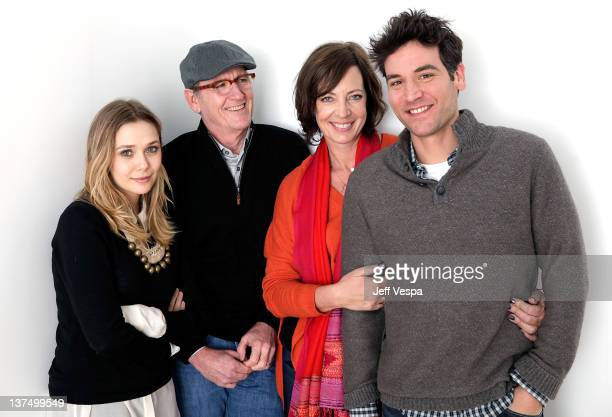 Actors Elizabeth Olsen Richard Jenkins Allison Janney and writer/director/actor Josh Radnor pose for a portrait during the 2012 Sundance Film...