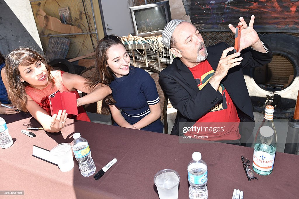 Actors Elizabeth Rodriguez, Alycia Debnam-Carey and Ruben Blades attend AMC's 'Fear The Walking Dead' during Comic-Con International 2015 at the Hilton Bayfront on July 11, 2015 in San Diego, California.