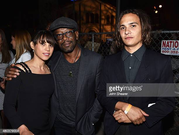 Actors Elizabeth Rodriguez Lennie James and Frank Dillane attend AMC ET And Tumblr's 'Fear The Walking Dead' Event during ComicCon International 2015...