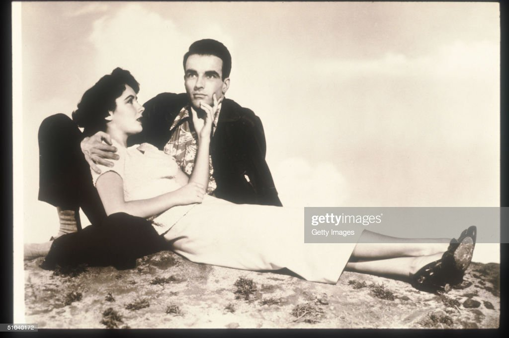 Actors Elizabeth Taylor And Montgomery Clift Pose In An Old Still From The Film 'A Place In The Sun' 1951 The Film Tells The Story Of A Young Man And...