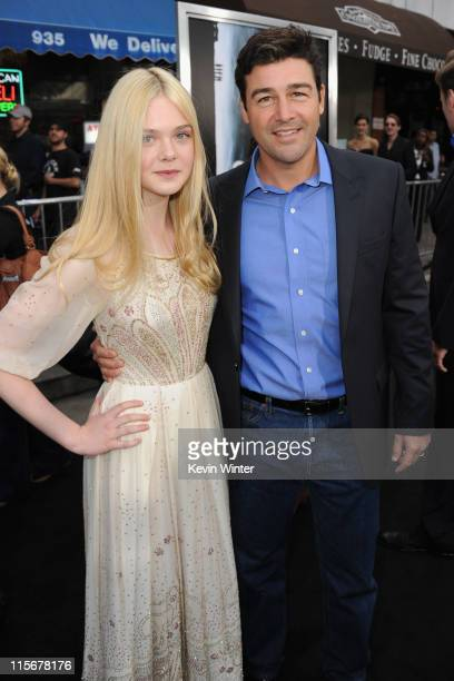 Actors Elle Fanning and Kyle Chandler arrive at the premiere of Paramount Pictures' 'Super 8' at Regency Village Theatre on June 8 2011 in Westwood...