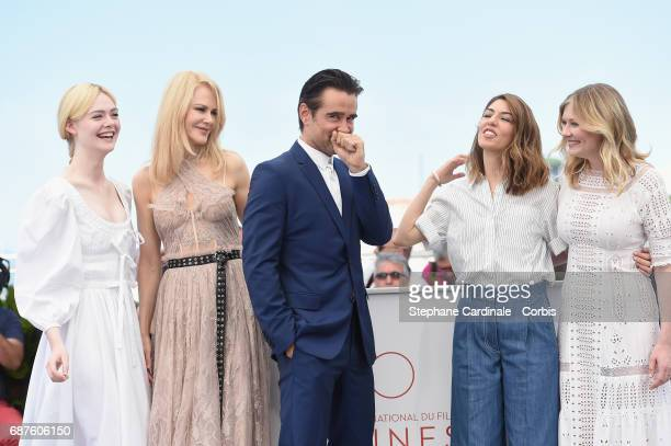 Actors Elle Fanning Nicole Kidman Colin Farrell director Sofia Coppola and actress Kirsten Dunst attend 'The Beguiled' photocall during the 70th...