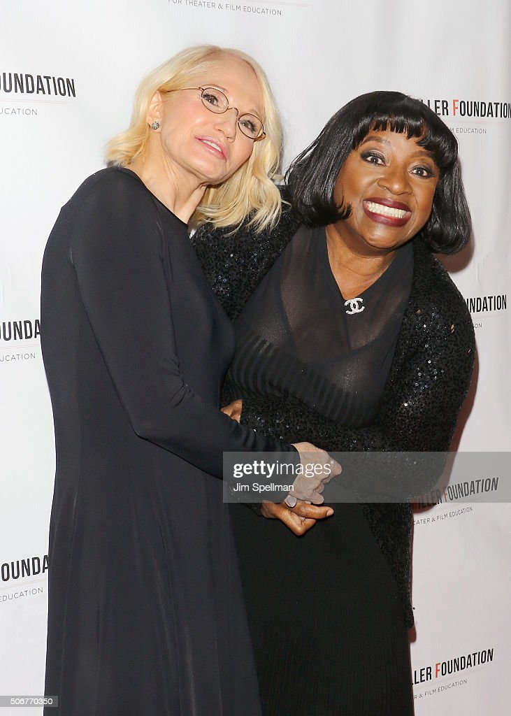 Actors Ellen Barkin and LaTanya Richardson Jackson attend the Arthur Miller - One Night 100 Years Benefit at Lyceum Theatre on January 25, 2016 in New York City.