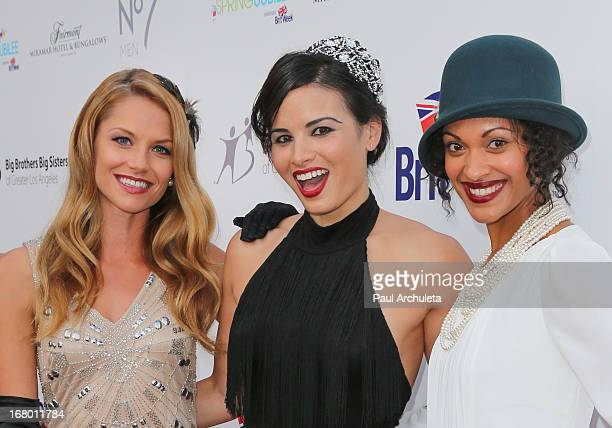 Actors Ellen Hollman Katrina Law and Cynthia AddaiRobinson attend the Britweek celebration of 'Downton Abbey' at Fairmont Miramar Hotel on May 3 2013...