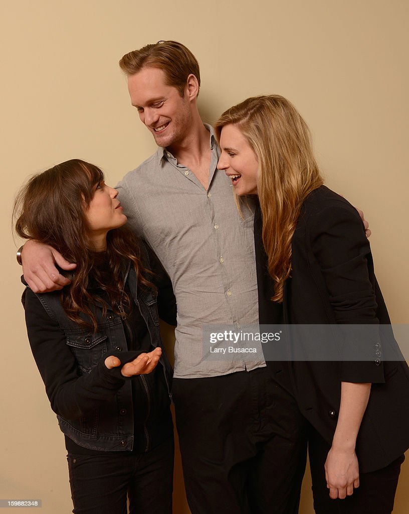 Actors Ellen Page, Alexander Skarsgard and Brit Marling pose for a portrait during the 2013 Sundance Film Festival at the Getty Images Portrait Studio at Village at the Lift on January 20, 2013 in Park City, Utah.