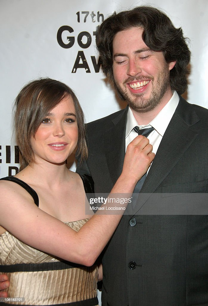 Actors <a gi-track='captionPersonalityLinkClicked' href=/galleries/search?phrase=Ellen+Page&family=editorial&specificpeople=623049 ng-click='$event.stopPropagation()'>Ellen Page</a> and <a gi-track='captionPersonalityLinkClicked' href=/galleries/search?phrase=Jason+Reitman&family=editorial&specificpeople=627880 ng-click='$event.stopPropagation()'>Jason Reitman</a> attend the 17th Annual IFP Gotham Awards at Steiner Studios on November 27, 2007 in Brooklyn, NY.