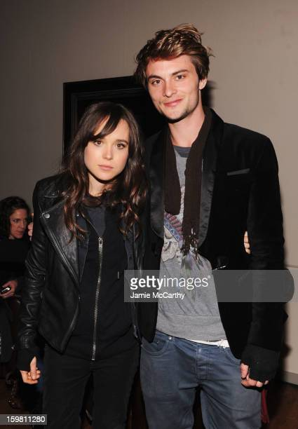 Actors Ellen Page and Shiloh Fernandez attend Grey Goose Blue Door part for Fox Searchlight Pictures 'Stoker' and 'The East' on January 20 2013 in...