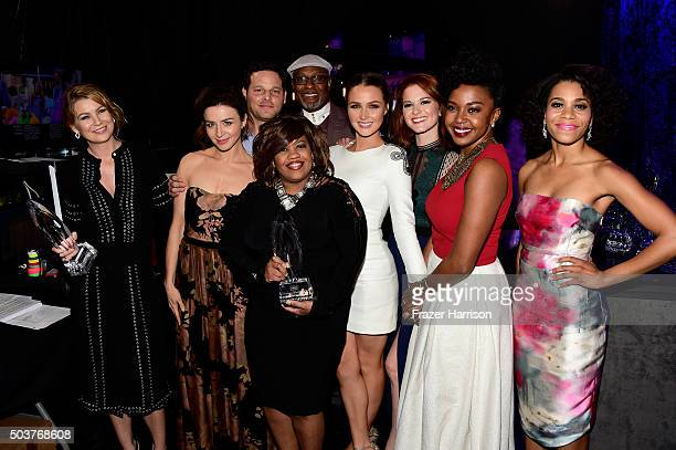 Actors Ellen Pompeo Caterina Scorsone Justin Chambers Chandra Wilson James Pickens Jr Camilla Luddington Sarah Drew Jerrika Hinton and Kelly McCreary...