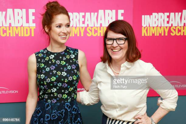 Actors Ellie Kemper and Kate Flannery attend Netflix's 'Unbreakable Kimmy Schmidt' FYC @ UCB at UCB Sunset Theater on June 15 2017 in Los Angeles...
