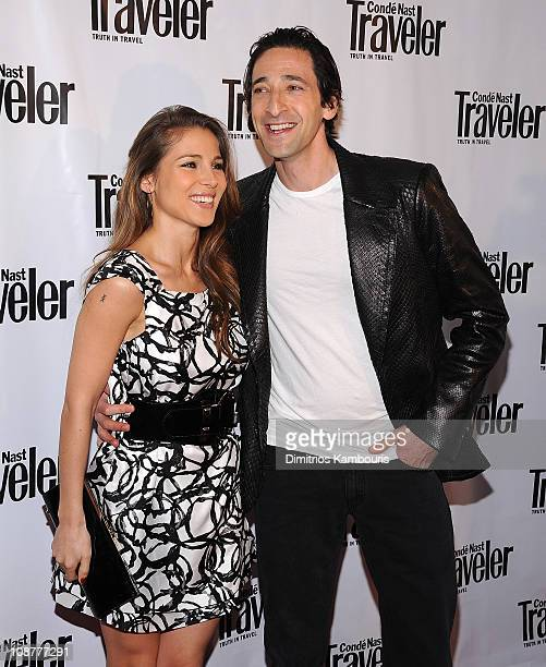 Actors Elsa Pataky and Adrien Brody attends the Conde Nast Traveler 8th Annual Hot List Party at Mansion on April 17 2008 in New York City