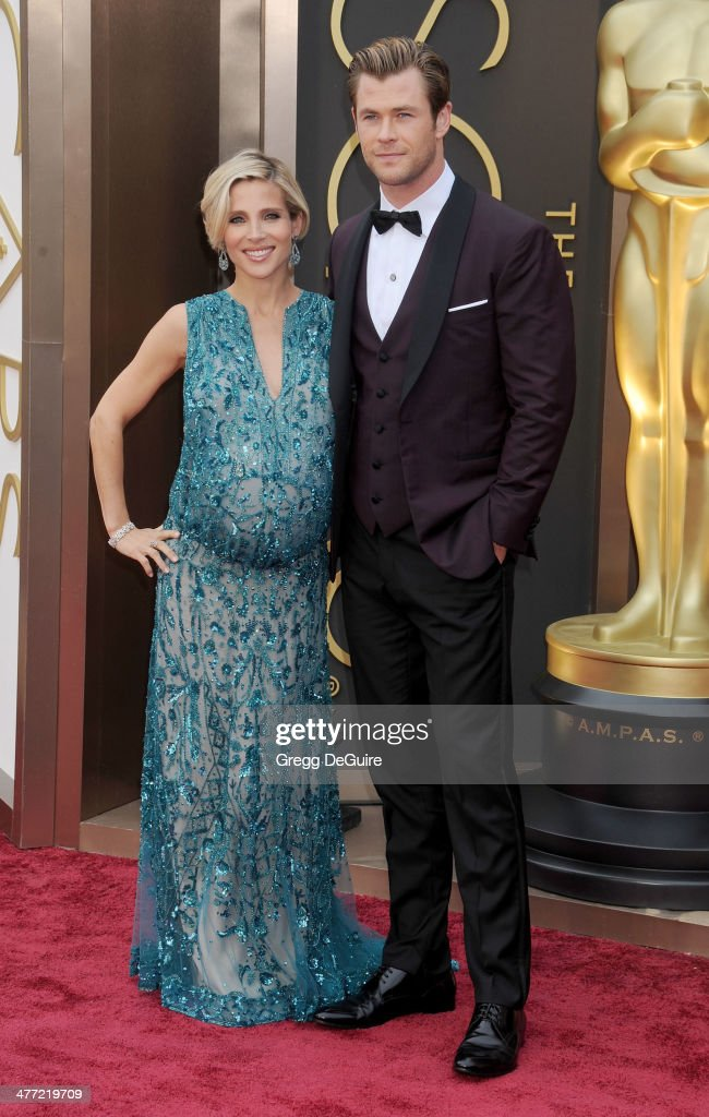 Actors <a gi-track='captionPersonalityLinkClicked' href=/galleries/search?phrase=Elsa+Pataky&family=editorial&specificpeople=242789 ng-click='$event.stopPropagation()'>Elsa Pataky</a> and <a gi-track='captionPersonalityLinkClicked' href=/galleries/search?phrase=Chris+Hemsworth&family=editorial&specificpeople=646776 ng-click='$event.stopPropagation()'>Chris Hemsworth</a> arrive at the 86th Annual Academy Awards at Hollywood & Highland Center on March 2, 2014 in Hollywood, California.