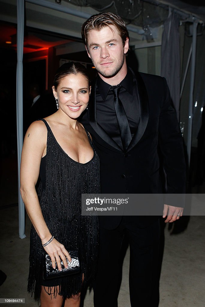Actors <a gi-track='captionPersonalityLinkClicked' href=/galleries/search?phrase=Elsa+Pataky&family=editorial&specificpeople=242789 ng-click='$event.stopPropagation()'>Elsa Pataky</a> and <a gi-track='captionPersonalityLinkClicked' href=/galleries/search?phrase=Chris+Hemsworth&family=editorial&specificpeople=646776 ng-click='$event.stopPropagation()'>Chris Hemsworth</a> attend the 2011 Vanity Fair Oscar Party Hosted by Graydon Carter at the Sunset Tower Hotel on February 27, 2011 in West Hollywood, California.