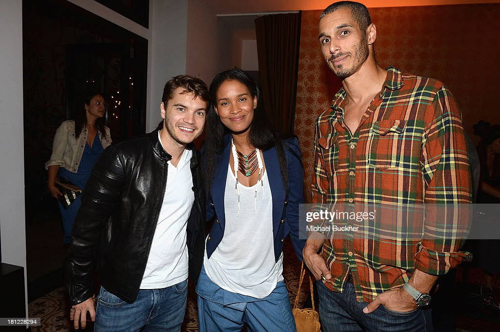 Actors <a gi-track='captionPersonalityLinkClicked' href=/galleries/search?phrase=Emile+Hirsch&family=editorial&specificpeople=210805 ng-click='$event.stopPropagation()'>Emile Hirsch</a> and <a gi-track='captionPersonalityLinkClicked' href=/galleries/search?phrase=Joy+Bryant&family=editorial&specificpeople=207047 ng-click='$event.stopPropagation()'>Joy Bryant</a> and guest attend People StyleWatch Denim Awards presented by GILT at Palihouse on September 19, 2013 in West Hollywood, California.