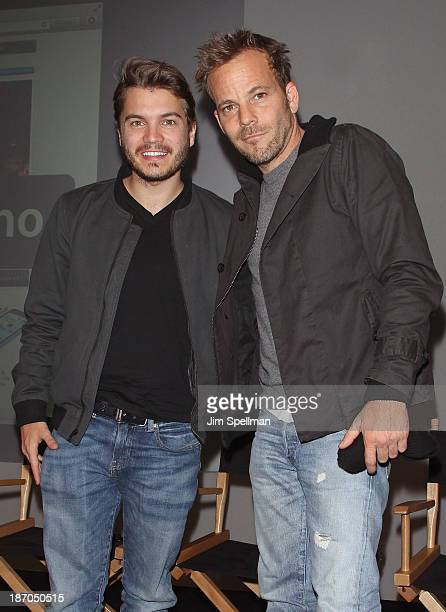 Actors Emile Hirsch and Stephen Dorff attend the Apple Store Soho Presents 'The Motel Life' at Apple Store Soho on November 5 2013 in New York City