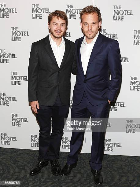 Actors Emile Hirsch and Stephen Dorff attend the New York screening of 'The Motel Life' at Sunshine Landmark on November 4 2013 in New York City