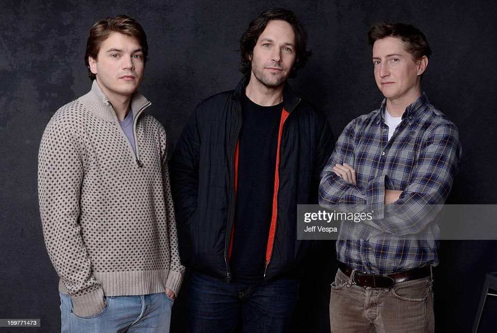 Actors <a gi-track='captionPersonalityLinkClicked' href=/galleries/search?phrase=Emile+Hirsch&family=editorial&specificpeople=210805 ng-click='$event.stopPropagation()'>Emile Hirsch</a>, <a gi-track='captionPersonalityLinkClicked' href=/galleries/search?phrase=Paul+Rudd&family=editorial&specificpeople=209014 ng-click='$event.stopPropagation()'>Paul Rudd</a>, and filmmaker <a gi-track='captionPersonalityLinkClicked' href=/galleries/search?phrase=David+Gordon+Green&family=editorial&specificpeople=2901053 ng-click='$event.stopPropagation()'>David Gordon Green</a> pose for a portrait during the 2013 Sundance Film Festival at the WireImage Portrait Studio at Village At The Lift on January 20, 2013 in Park City, Utah.
