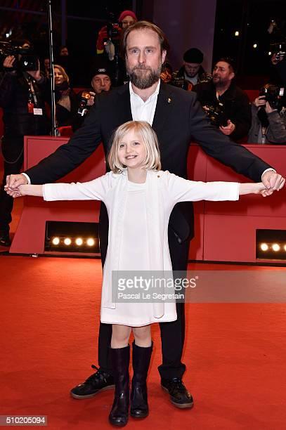 Actors Emilia Pieske and Bjarne Maedel attend the '24 Wochen' premiere during the 66th Berlinale International Film Festival Berlin at Berlinale...