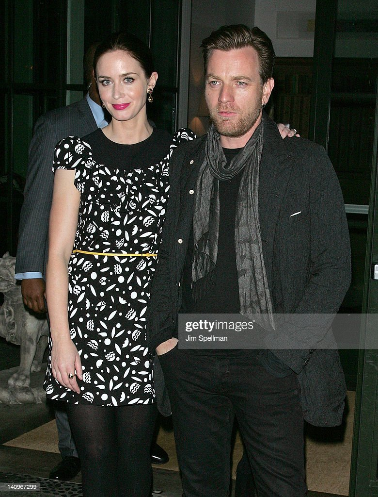 Actors Emily Blunt and Ewan McGregor attend the Cinema Society Opium Yves Saint Laurent screening of 'Salmon Fishing in the Yemen' at the Crosby...