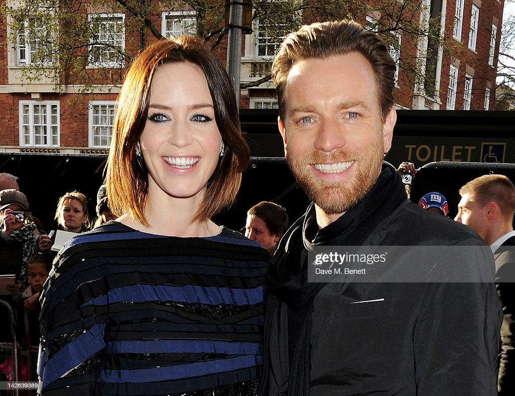 Actors Emily Blunt and Ewan McGregor attend the European Premiere of 'Salmon Fishing In The Yemen' at Odeon Kensington on April 10 2012 in London...